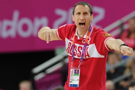 "The former coach of the Russian men's national basketball team, David Blatt: ""Russia has an excellent future [in basketball]."" Source: RIA Novosti"