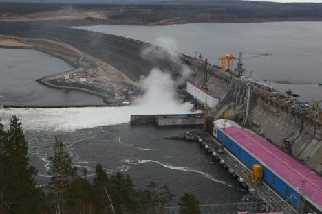 Boguchanskaya hydropower station. Source: RIA Novosti / Alexander Kryazhev