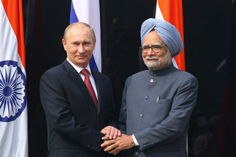 """India and Russia share the objective of a stable, united, democratic and prosperous Afghanistan, free from extremism, terrorism and external interference,"" Indian Prime Minister Manmohan Singh said. Source: ITAR-TASS."