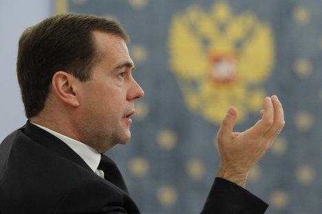 Medvedev wants economy to grow. Source: ITAR-TASS