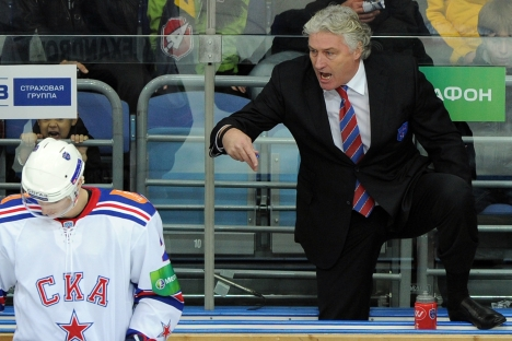 SKA St. Petersburg's head former coach Milos Riha. Source: ITAR-TASS