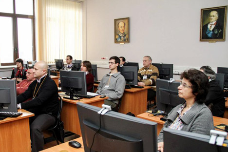 The Interactive Education, a scientific and practical conference, held in Moscow State University (MGU) in the middle of December. Source: Press Photo