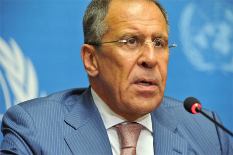 "Russian Foreign Minister Sergei Lavrov: ""A realistic assessment of the situation in Syria should encourage sensible opposition members to look for ways to start political dialog."" Source: flickr / United Nations - Geneva"
