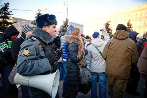 The Dec. 15 Freedom March brough together about 500-700 people in central Moscow, according to different estimates. Source: Ruslan Sukhushin