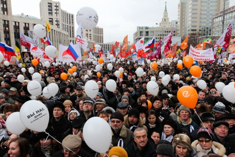 Post-election protests held on December 24, 2011. Source: Kirill Rudenko