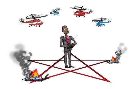 Why Rosoboronexport came under U.S. sanctions. Drawing by Niyaz Karim
