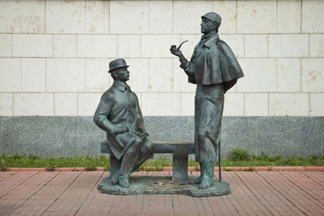 Conan Doyle's heroes are cast in their actual size. Source: Culture.ru.