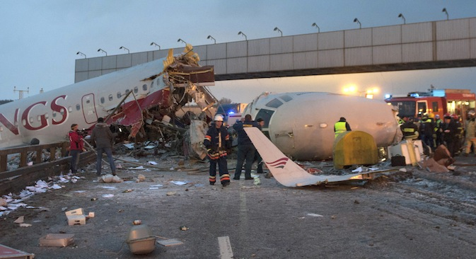 A Tupolev Tu-204 airliner manufactured by the Aviastar plant for Red Wings Airlines crashed in the Vnukovo airport. Source: AP