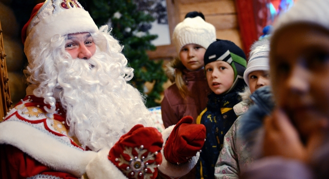 Russian Santa Claus, Grandfather Frost, is seen as the main winter wizard by children. Source: RIA Novosti