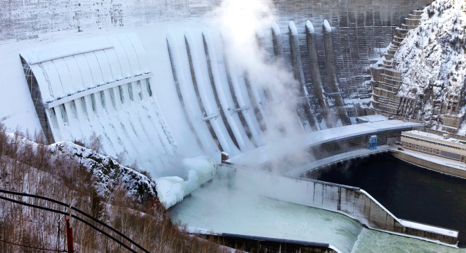 A general view of the Sayano-Shushenskaya hydroelectric power station on the Yenisei River. Source: Reuters / Vostock Photo