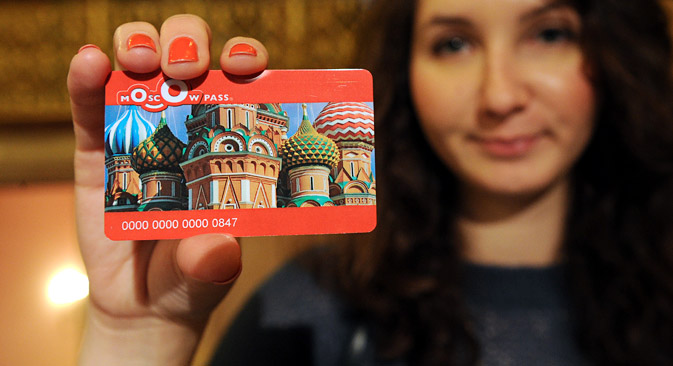 Moscow Pass, a new discount card for Russian and foreign tourists visiting Moscow. Source: ITAR-TASS