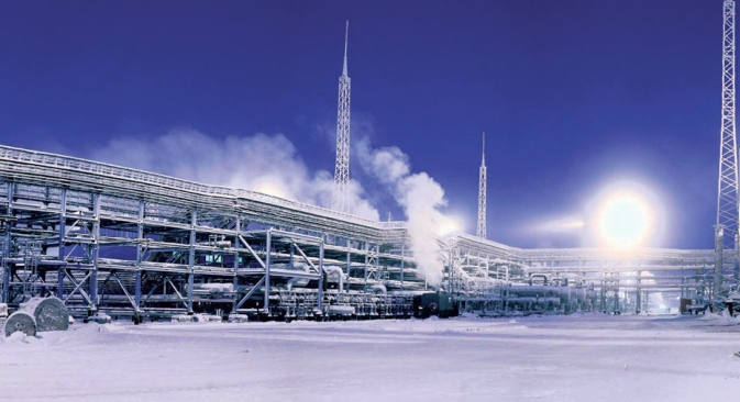 Gas and condensate production was launched from Northern Siberia's Zapolyarnoye gas field last year. Source: Press Photo