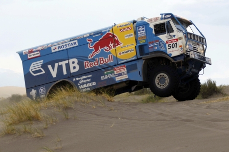 The Dakar 2013 Rally is in full swing. Pictured: Russian KAMAZ-Master automobile. Source: RIA Novosti