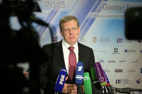 The 2013 Gaidar Forum brings together Russian prominent pundits and officials to address the country's economic challenges. Pictured: Former Finance Minister Alexei Kudrin. Source: RIA Novosti / Alexei Filippov