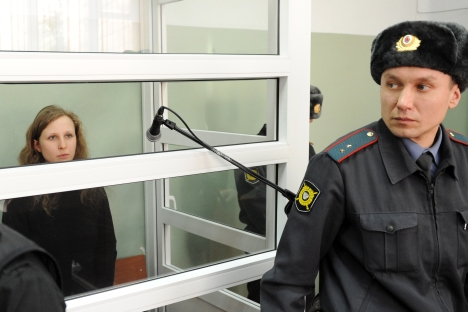 The court rejected an appeal of Pussy Riot member Maria Alyokhina to suspend her prison sentence. Source: RIA Novosti / Pavel Lisitsin