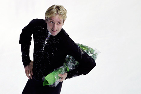"Evgeny Plushenko called his fall on a triple-axel attempt in the short program an ""inexcusable mistake."" Source: Reuters"