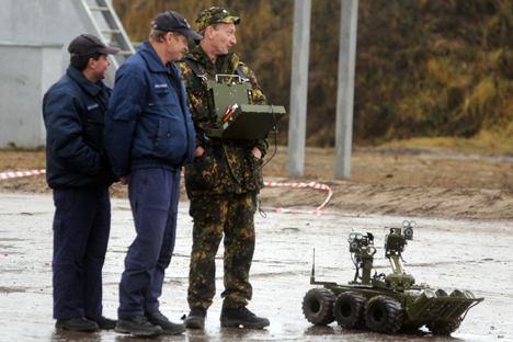 Russia's Ministry of Defense expressed interest in using robots in warfare. Source: ITAR-TASS