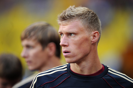 "Pavel Pogrebnyak: ""The main goal is to stay in the Premier League and not get relegated."" Source: ITAR-TASS"