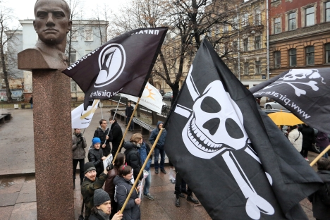 A rally against imposing Internet censorship in St. Petersburg. Source: ITAR-TASS