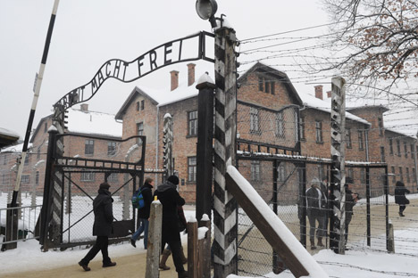 "Auschwitz-Birkenau (Auschwitz), where a Russian exposition ""Tragedy. Martyrdom. Liberation"" opened in the museum as part of commemorative events to mark the 68th anniversary of the liberation of the concentration camps. Source: RIA Novosti"