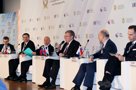 The 2013 Gaidar Forum brings together Russian prominent pundits and officials to address the country's economic challenges. Source: Gaidar Forum / Press Service
