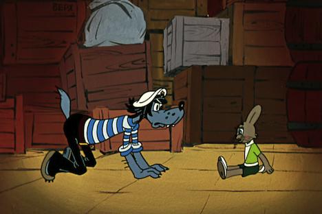 "A footage from the Soviet cartoon - ""Nu pogodi"" (""Just You Wait!""). Source: Kinopoisk"