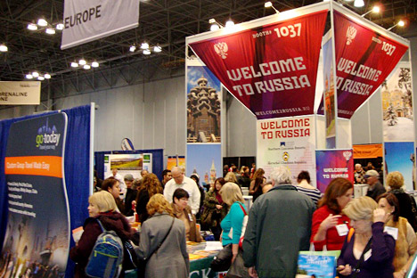 Russia was featured for the first time at the New York Times Travel Show. Source: Press Photo.