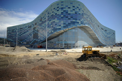 Construction of new infastructure in Sochi before the 2014 Winter Olympics. Source: Mikhail Mordasov