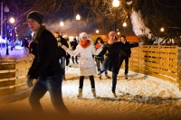 Muscovites breaking the ice on the rinks