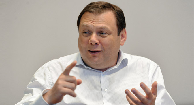 Mikhail Fridman, businessman of the year and the principle owner of the company Alfa Group. Source: Kommersant.