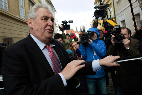 Miloš Zeman will aim to promote closer ties with Russia by using economic cooperation mechanisms. Source: Reuters