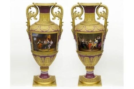During the 19th century, monumental vases like these were created to decorate the vast Imperial palaces and residences. Source: Press Photo