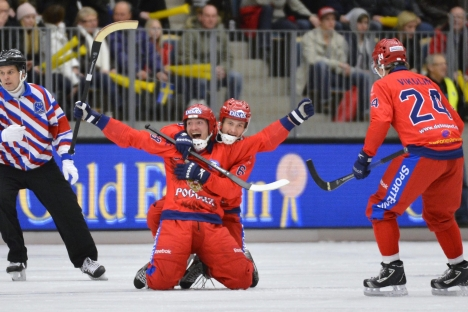 Bandy will be showcased at the Sochi 2014 Winter Olympics. Source: AFP / East News