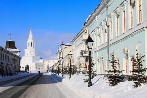 Lateral do Kremlin de Kazan, cidade que sediará a Universíada 2013 Foto: Lori / Legion Media