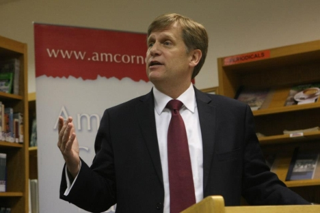 U.S. Ambassador Michael McFaul taking the floor in the American Center in Moscow on Martin Luther King Day. Source: Courtesy to U.S. Embassy in Moscow