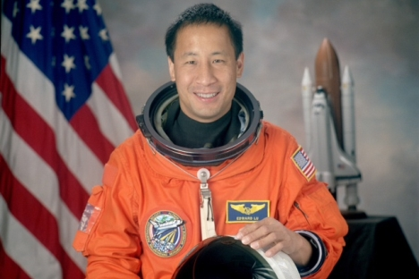 "Former NASA astronaut Ed Lu: ""It is true that none of the asteroids that have been spotted have a high probability of hitting Earth."" Source: NASA"