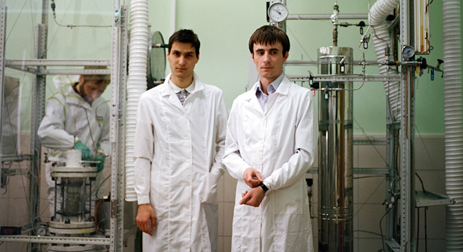 The founders of Global RRT, Oleg Parputs (33) and Oleg Giyazov (23). Source: Kommersant