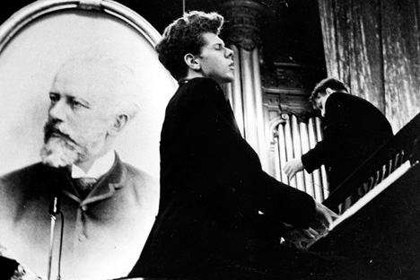 Cliburn was 23 when he won the Moscow Tchaikovsky competition.  He preformed Tchaikovsky's Piano Concerto No. 1. Source: AP
