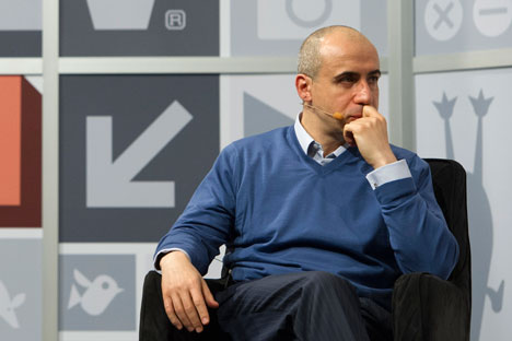 "Yuri Milner during the interview on SXSW: ""Facebook, Google and Wikipedia have amazing network effects. Chances are that those are long survivors"". Source: Getty Images"