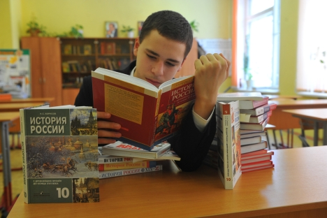 The new Russian history textbooks are expected to reflect the emerging trend toward promoting conservative values, which has been taking hold since the beginning of Vladimir Putin's third term in power. Source: PhotoXPress
