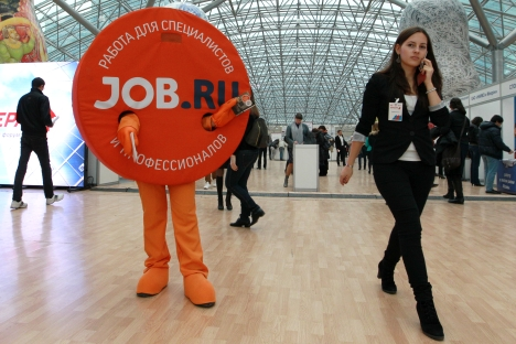Visitors at the 30th Career International Forum at the Afimall City shopping mall, Moscow. Source: RIA Novosti / Ruslan Krivobok
