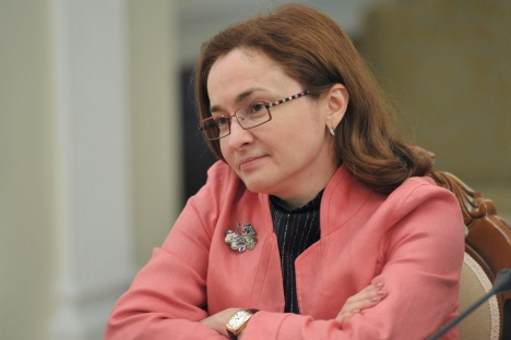 Elvira Nabiullina, Russia's new Central Bank chief, served as Economic Development Minister from 2007 to 2012 and shepherded Russia through its accession to the World Trade Organization. Source: RIA Novosti / Aleksey Nikolsky