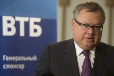 Bank VTB president and board chairman Andrei Kostin at the Yalta Business Meetings forum. Source: RIA Novosti / Sergey Guneev