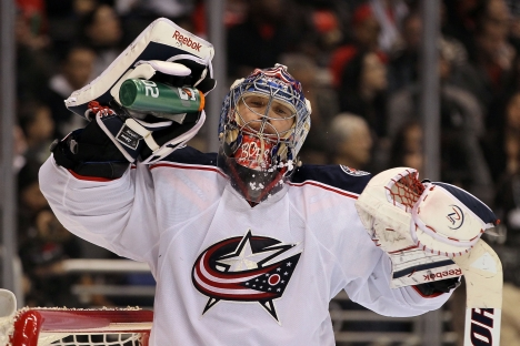 Columbus Blue Jackets goaltender Sergei Bobrovsky named the NHL's best player of the last week. Source: Getty Images