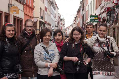 "Participants of the charity photo-project ""We live on this Earth"" visit Heidelberg, Germany. Source: Amvrosiy Khramov"