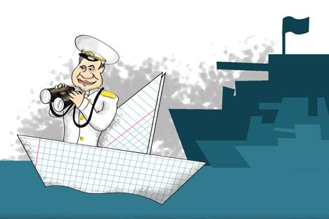 Russian fleet to return to the Mediterranean. Drawing by Niyaz Karim