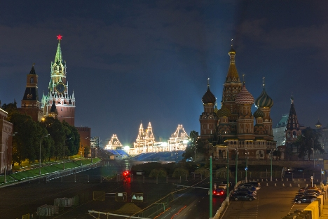The Red square's name has nothing to do with communism or with the color of many of its buildings. In fact it derives from the word 'krasnyi', which once meant 'beautiful'. Source: Igor Stepanov