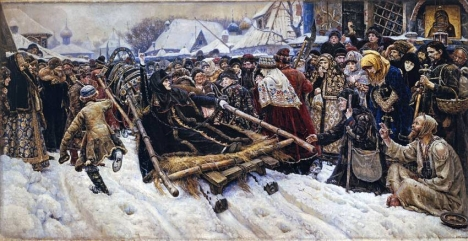 """The painting """"Boyarynia Morozova"""" by Vasily Surikov. Feodosia Morozova was one of the best-known partisans of the Old Believer movement. Source: Public domain"""