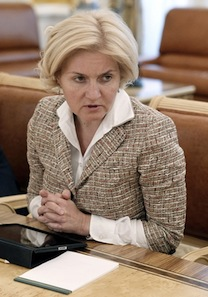 Olga Golodets, 50, deputy prime minister in charge of social issues. Source: government.ru
