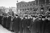 Russia on the day of Stalin's funeral